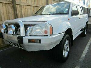 2002 Nissan Navara White Manual Dual Cab Pick-up Woodridge Logan Area Preview