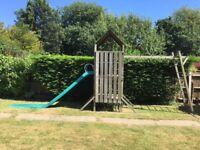 Kingswood climbing frame including slide