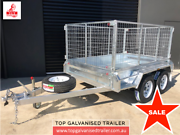 8x5 Box Trailer Hot Dip Galvanised With 900mm Cage, 2000 kg ATM Boronia Knox Area Preview