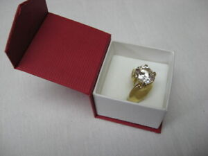 10 karat Gold Plated Ring with large Stone