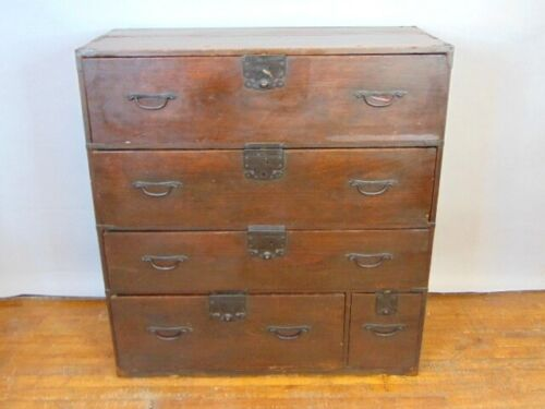 Vintage Antique Industrial Style Dresser Chest