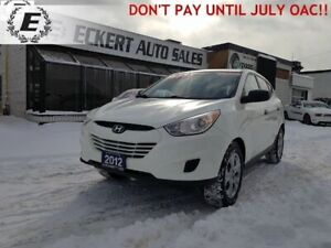 2012 HYUNDAI TUCSON L   DON'T PAY FOR 6 MONTHS OAC!!