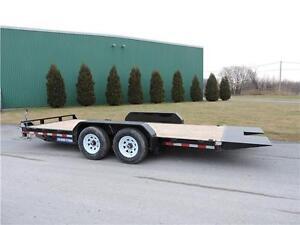 Tilt bed equipment trailer 18' 14k