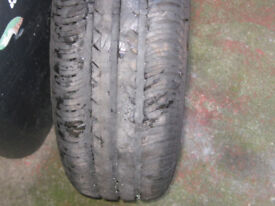 vw wheel and new tyre