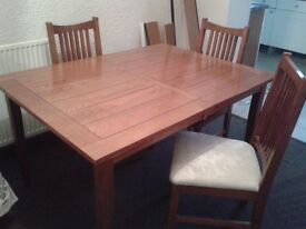 QUICK SALE GOOD DINING ROOM extending TABLE CHAIRS was 400 OFFERS