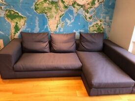 CAMERICH L-Shaped CASA sofa in Dark Grey Fabric (up to 4 people) London NW11 (retails over £2,000)