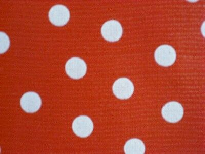 RED + WHITE POLKA DOT MINNIE MOUSE KITCHEN PATIO OILCLOTH VINYL TABLECLOTH 48x84