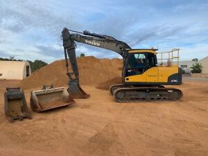 Volvo EC140CL excavator 2010, 3 buckets & grab Pickering Brook Kalamunda Area Preview