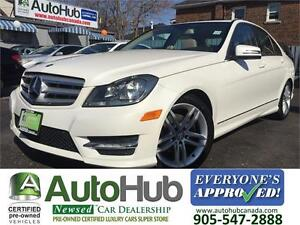 2012 Mercedes-Benz C-Class 4MATIC-SUNROOF-LEATHER-ALLOY IMMICULA
