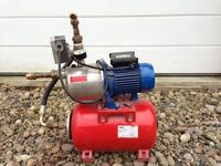 Domestic water pump c/w expansion tank and control box