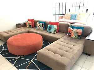 Large u shaped suede lounge setting Allambie Heights Manly Area Preview