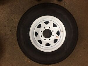 235/80R16 NEW WHITE SPOKE WHEELS & TIRES