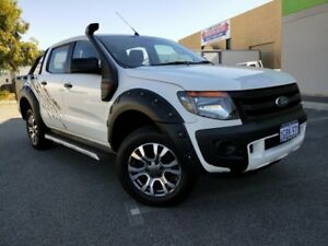 2013 Ford Ranger PX XL 3.2 (4x4) White 6 Speed Automatic Dual Cab Utility Malaga Swan Area Preview