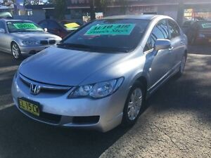 2007 Honda Civic MY07 VTi Silver 5 Speed Automatic Sedan Lansvale Liverpool Area Preview