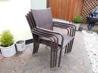 four garden chairs in nice condition