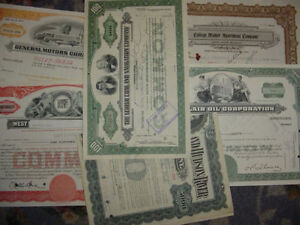 Lot of 15 Different Stock Certificates