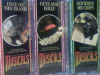 THE MUSICALS COLLECTION # 46, 47 & 48 BY ORBIS PRERECORDED CASSETTE TAPES