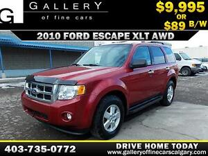 2010 Ford Escape XLT 4WD $89 Bi-Weekly APPLY NOW DRIVE NOW