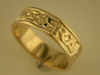 Love Forever Celtic Wedding Ring - Ladies 14k Gold Irish Hand Crafted Celtic Gra Go Deo Love forever Wedding Ring