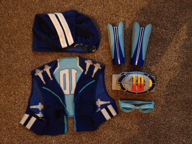 Sportacus costume based off of the TV show LazyTown fancy dress