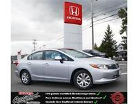 2012 Honda Civic LX, Ipod Jack, Only 64000kms !!, 53$/wk