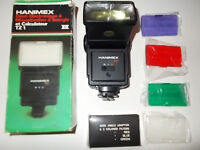 Hanimex TZ1 flash with colour filters