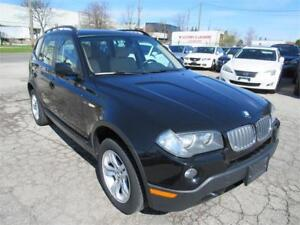 2007 BMW X3 3.0i AWD ,IN MINT COND, BLACK ON BEIGE INT,CERTIFIED