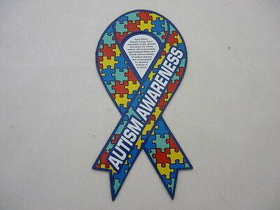 Autism Awareness Puzzle Ribbon Car Magnet  8