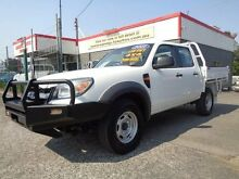 2011 Ford Ranger PK XL (4x4) White 5 Speed Manual Dual Cab Chassis Sandgate Newcastle Area Preview