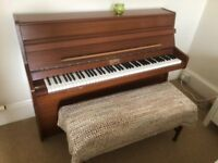 Berry of London upright piano, beautiful tone, includes duet bench