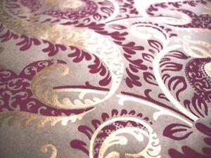 5 x A4 Luxury Handmade Wedding/Decorative Paper - Deep Pink & Gold by Cranberry