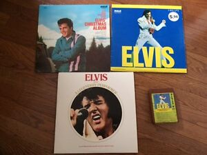 Elvis records and 8 track