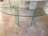 Glass dining table- Italian design by Quia of Sassano