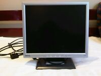 Monitor, 17 inch, silver and black LCD flat screen fully working BENQ FP731/737s