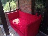 Vintage red Knole sofa