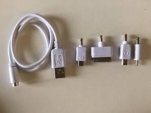 USB Cable with Multiple Connectors