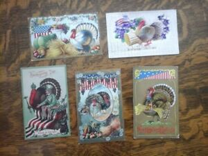 5 Thanksgiving U.S. 1905 to 1912 Post Cards #1