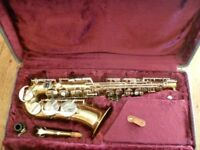 Corton alto saxophone outfit -with accesories etc-blows well,great sound