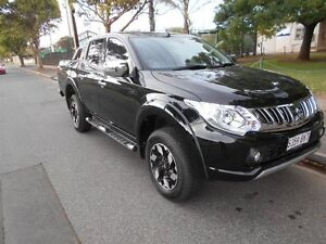2016 Mitsubishi Triton MQ MY16 Exceed Double Cab Black 5 Speed Sports Automatic Utility Somerton Park Holdfast Bay Preview