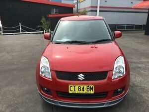 2008 Suzuki Swift EZ 07 Update Magma Red 5 Speed Manual Hatchback Cardiff Lake Macquarie Area Preview