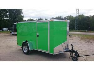 2017 New 6x10 + V-nose RAMP DOOR enclosed trailer
