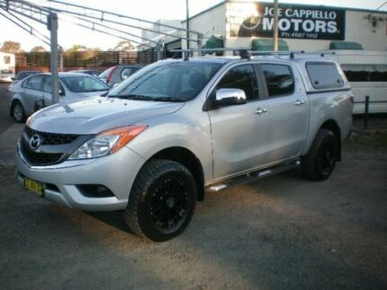 2012 Mazda BT-50 XTR (4x4) Silver 6 Speed Automatic Dual Cab Utility Newcastle 2300 Newcastle Area Preview