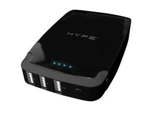 HYPE 10000 mAh Moblie And Tablet 3 USB Power Bank