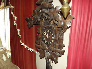Very Large Black Forest Antique Cuckoo Clock $450.00 OBO