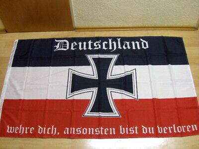 Fahnen Flagge Deutsches Reich Deutschland wehre dich - 90 x 150 cm