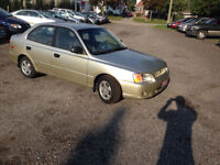 2002 Hyundai Accent GL. $2360 with tax! Kitchener / Waterloo Kitchener Area Preview