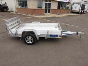 "NEW 2017 MISSION 54"" x 8' ALUMINUM UTILITY TRAILER"