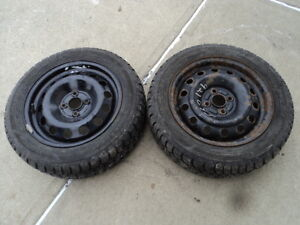2 Goodyear Tires with Rims 195/55/15