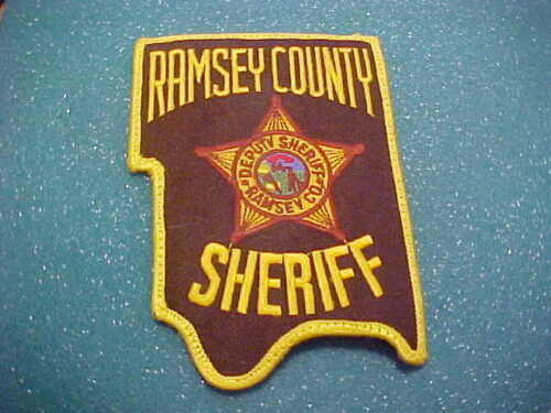 RAMSEY COUNTY MINNESOTA POLICE PATCH SHOULDER SIZE USED OLD STYLE