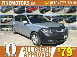 2008 MAZDA MAZDA3 GX  HATCHBACK * CAR LOANS FOR ALL CREDIT HERE